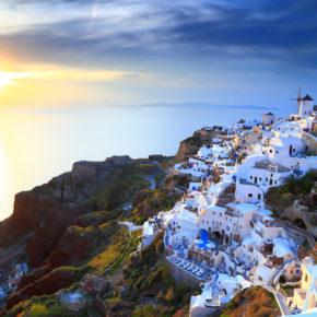 Ein Traum aus Blau & Weiß: 8 Tage Santorini mit TOP Hotel und Flug nur 184€