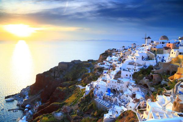 Santorini Ausblick