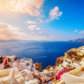 Frühbucher Inselurlaub mit Freunden: 8 Tage Santorini mit TOP Aparthotel & Flug nur 294€