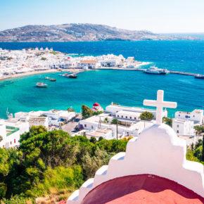 Im Frühling 2021 ab auf die griechische Trauminsel: Flüge hin und zurück nach Mykonos um 26€
