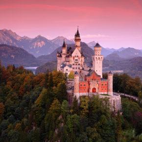 Schloss Neuschwanstein Sonnenuntergang