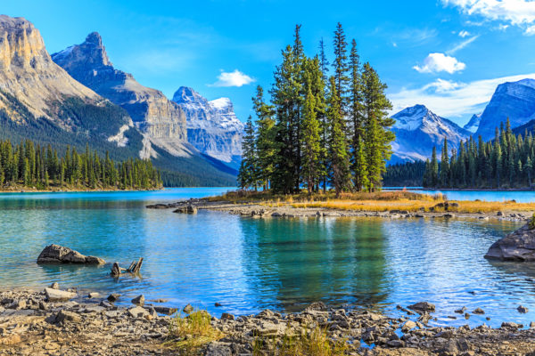Kanada See Berge