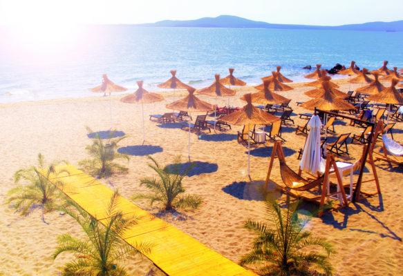 Bulgarien Strand Schirme Liegen
