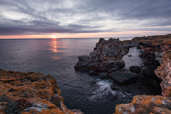 Bulgarien Klippen Meer Sonnenuntergang