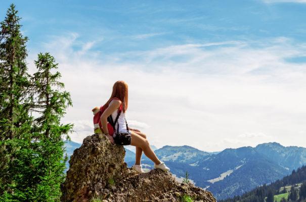 Deutschland Allgäu Berg Wandern