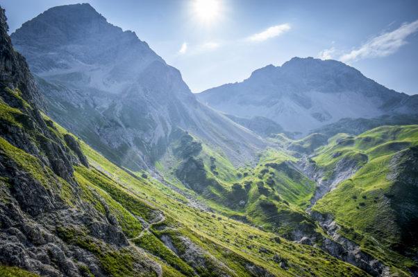 Deutschland Allgäu Berge Sonne