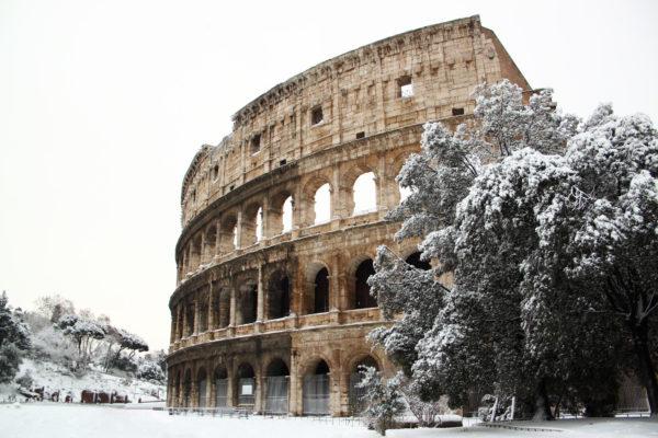 Italien Rom Colloseum Winter