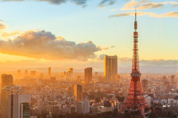 Japan Tokio Stadt Morgen