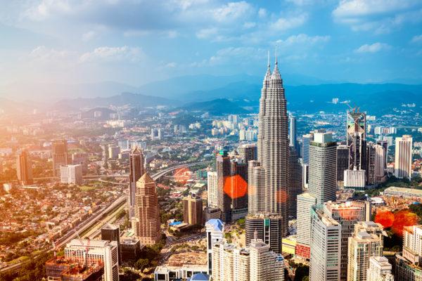 Malaysia Kuala Lumpur von oben