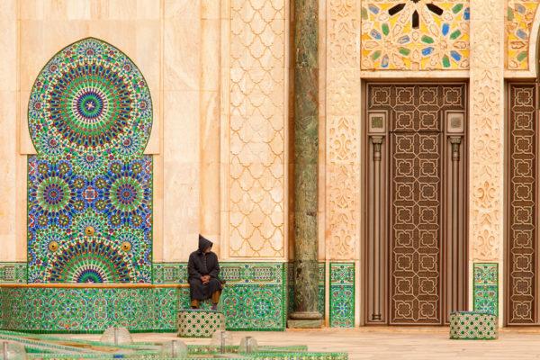 Marokko Casablanca Hauswand