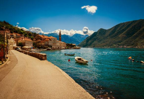 Montenegro Hafen Boka Kotorska