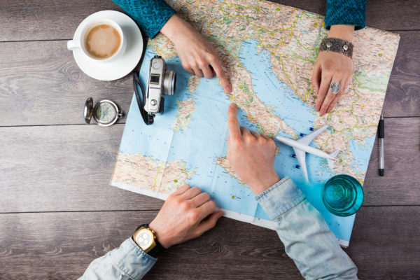 Weltkarte reisen Urlaub planen