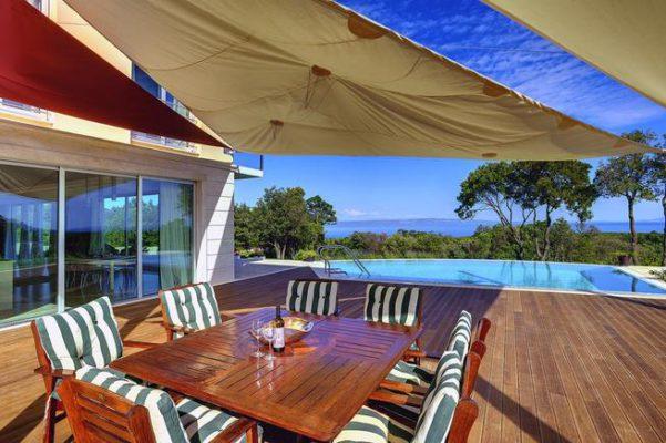 Ferienhaus Kroatien Terrasse