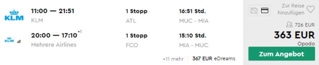 15 Tage Miami Flüge