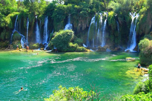 Bosnien Kravica Wasserfall