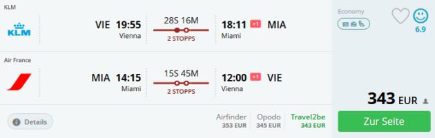 Flug Wien Miami