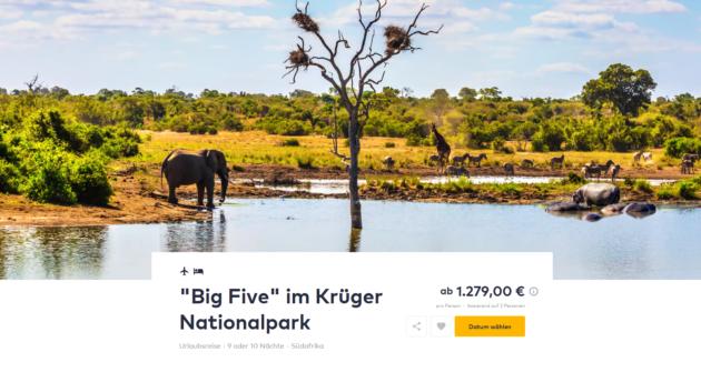 10 Tage Krueger Park