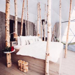 Whitepod Schlafzimmer