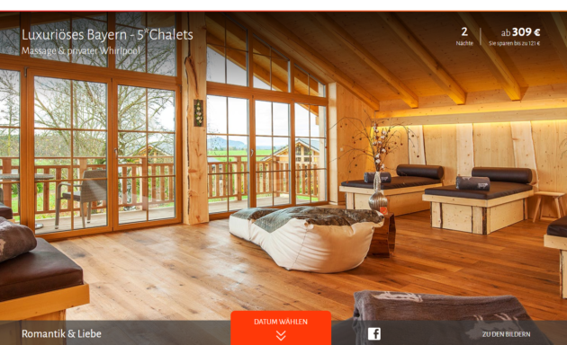 luxus in bayern 3 tage im eigenen top 5 chalet mit. Black Bedroom Furniture Sets. Home Design Ideas