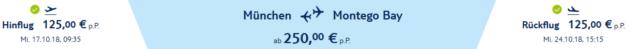 Flug München Montego Bay