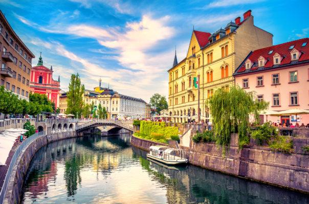 Slowenien Ljubljana Kanal