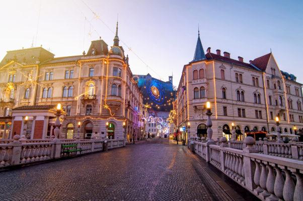 Slowenien Ljubljana Winter