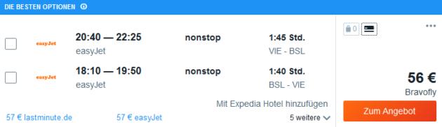 Flug Wien Basel