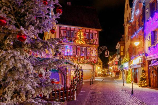 Frankreich Colmar Winter Deko