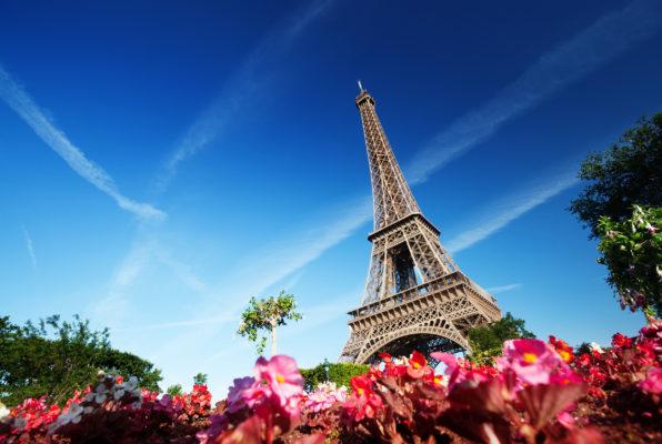 Frankreich Paris Eiffelturm Frühling