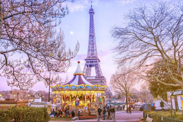 Frankreich Paris Karussell Eiffelturm