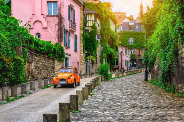 Frankreich Paris Montmartre Strasse