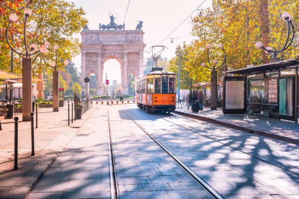 Italien Mailand Arch of Peace Altstadt