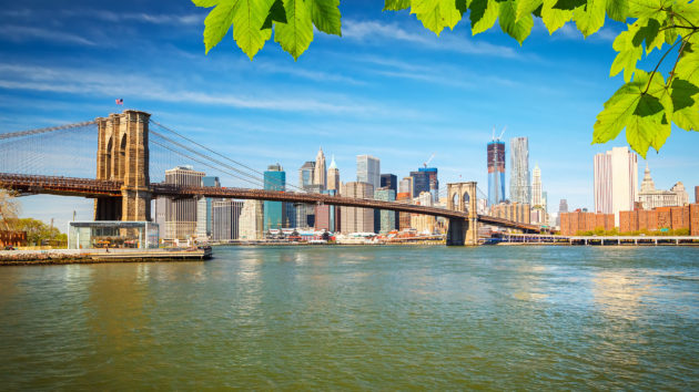USA New York Brooklyn Bridge Manhattan