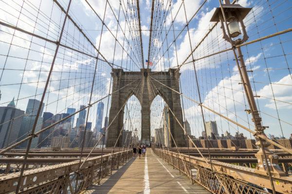 USA New York Brooklyn Bridge Zentral