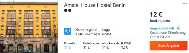 3 Tage Berlin Hostel