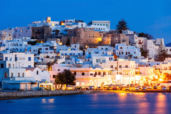 Griechenland Naxos Stadt Nacht