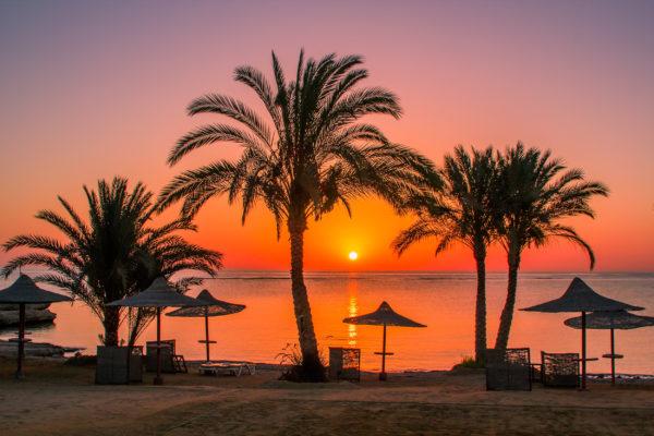 Ägypten Sonnenuntergang
