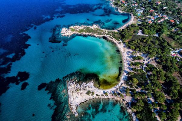 Griechenland Chalkidiki Karidi Beach