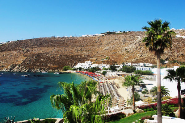 Griechenland Mykonos Psarou Beach