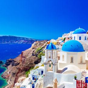 Santorini: 7 Tage im TOP 3* Hotel mit Frühstück, Flug & Transfer nur 284€