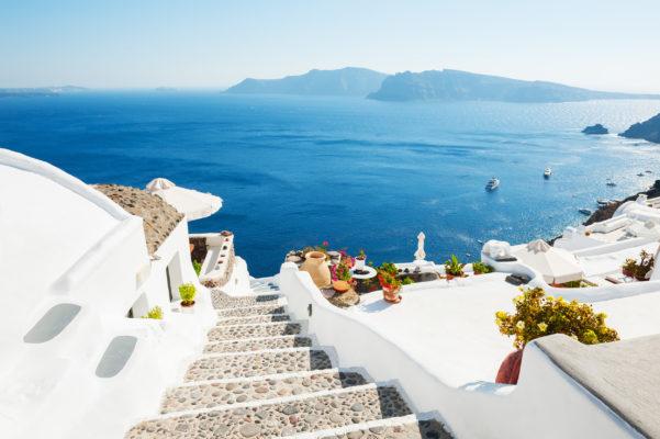 Griechenland Santorini Treppen