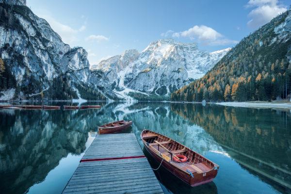 Italien Prags See Boote