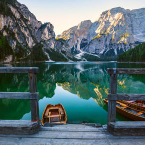 Wochenende am Pragser Wildsee: 3 Tage in Südtirol im TOP 3* Hotel inkl. Halbpension Plus um 129€