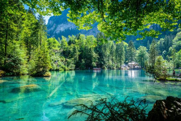 Schweiz Kandergrund Blausee