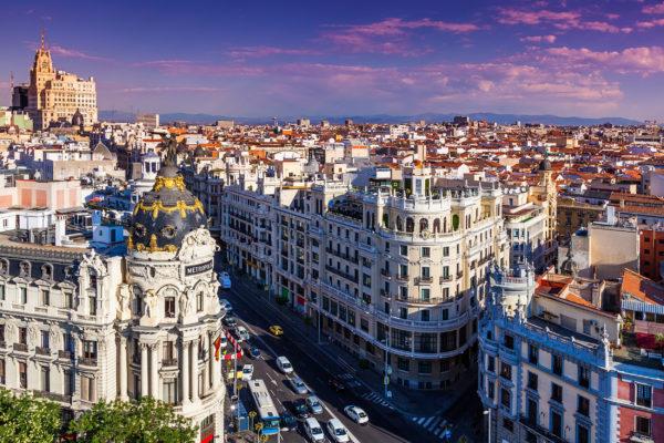 Spanien Madrid Gran Via