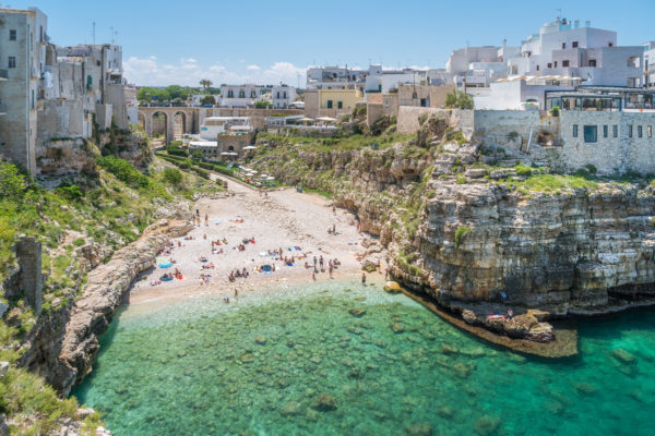 Italien Apulien Polignano Strand