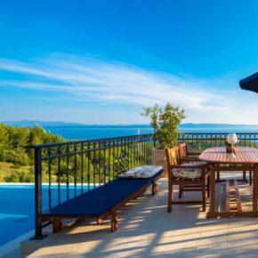 Kroatien Villa Maolive Terrasse
