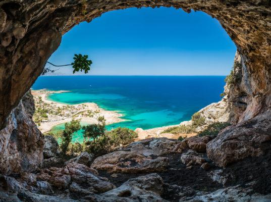 Griechenland Kreta Höhle