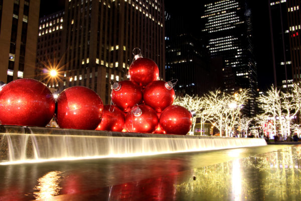 New York Winter Weihnachten Kugeln