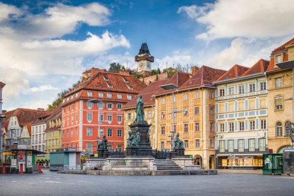 Österreich Graz Hauptplatz